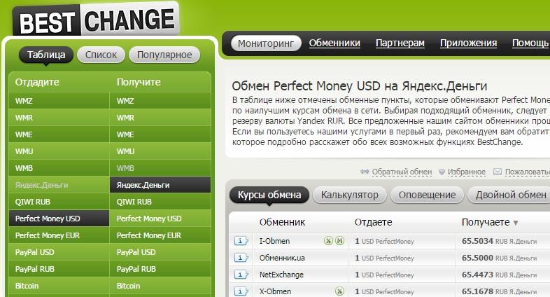 Обмен валют в режиме онлайн