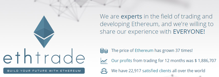 Brand story of the Ethtrade org and investment proposals to the customers