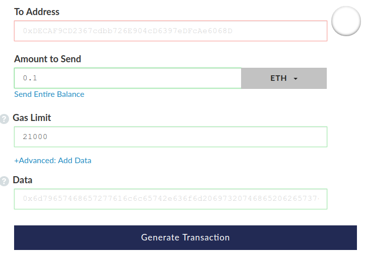Отправить ethereum на адрес смарт-контракта