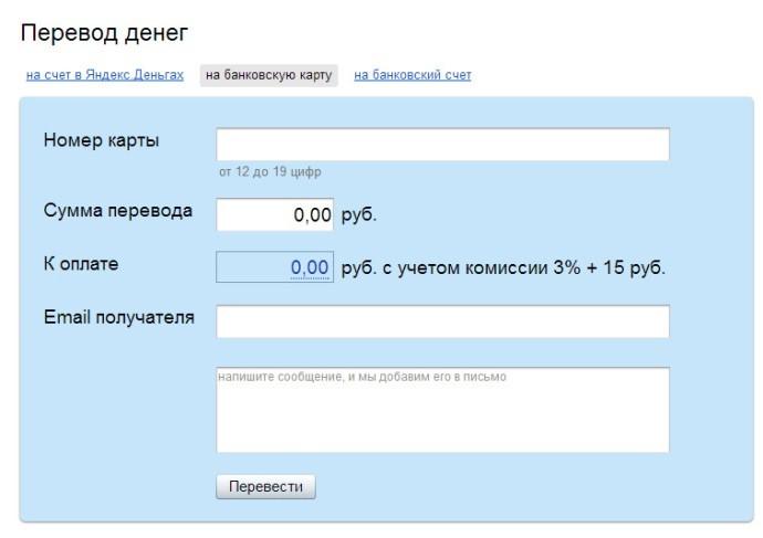 Варианты вывода денег с ЯндексДеньги без комиссии